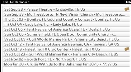 Todd Schedule