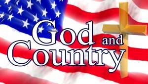 God and Country plate